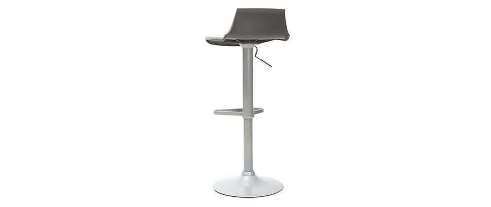 2 Design-Barhocker Grau KRONOS