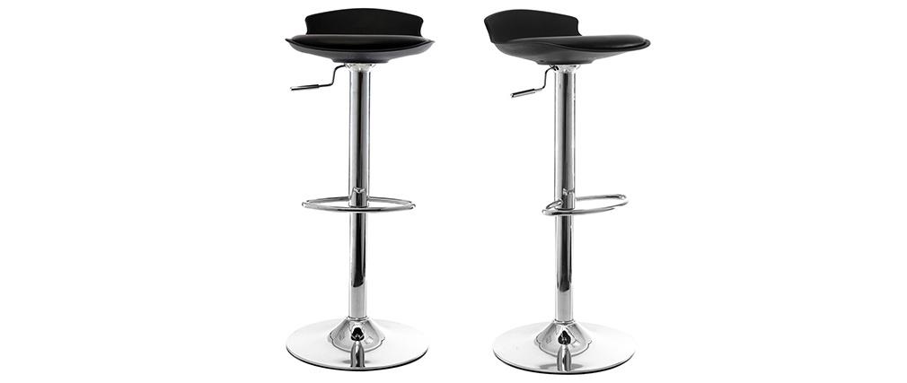 2 Design-Barhocker NOVA Schwarz