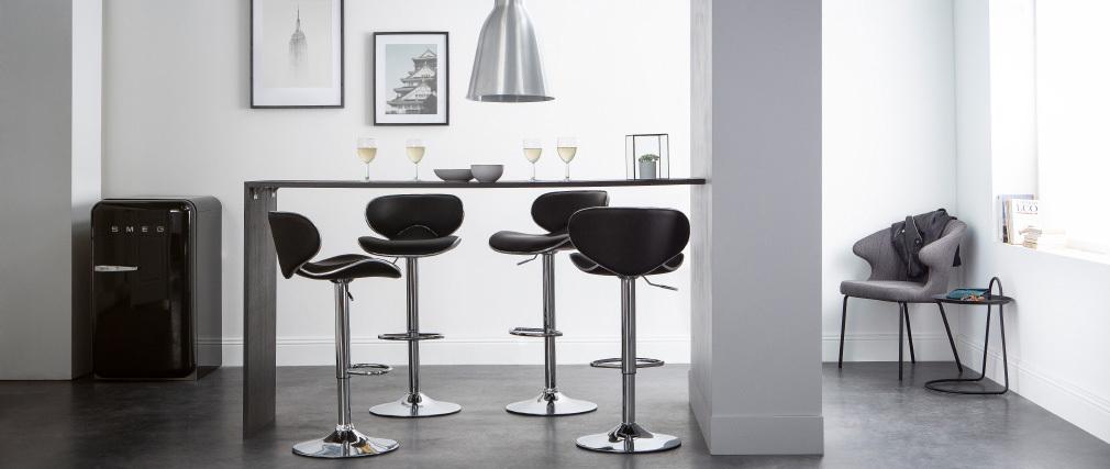 2 Design-Barhocker PEGASE Weiß