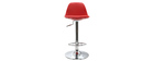 2 Design-Barhocker Rot STEEVY