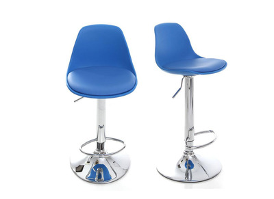 2 Design-Barhocker STEEVY Blau