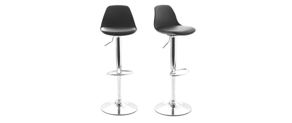 2 Design-Barhocker STEEVY Schwarz