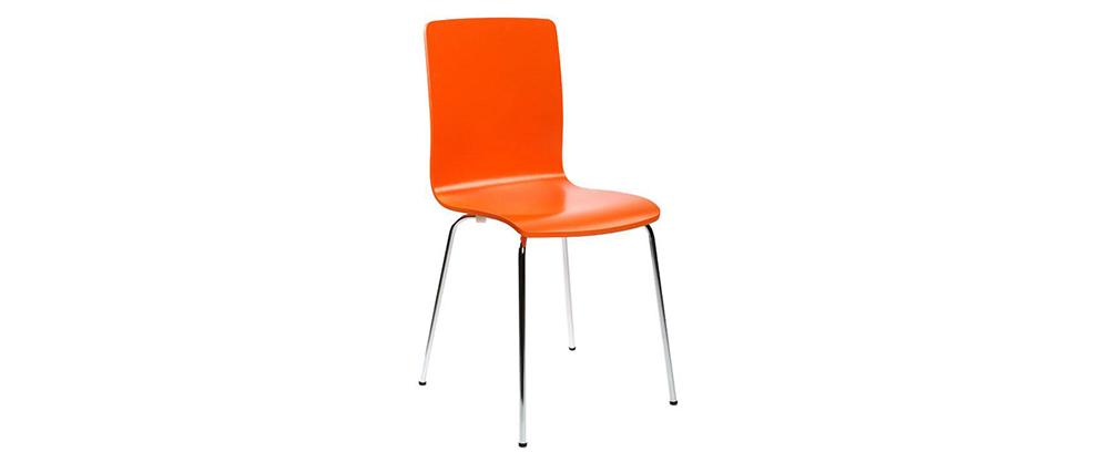 2 design k chenst hle nelly orange miliboo. Black Bedroom Furniture Sets. Home Design Ideas