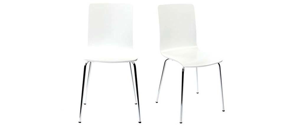 2 Design-Küchenstühle NELLY Weiß