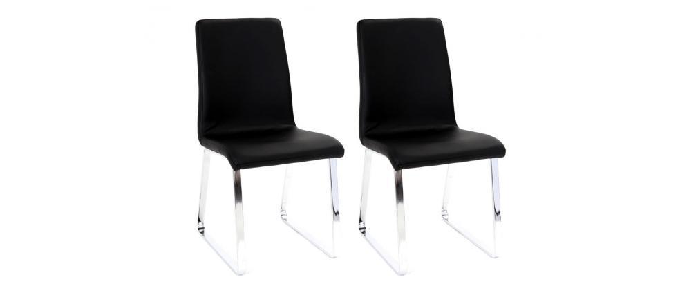 2 Design-Stühle BELLA Schwarz