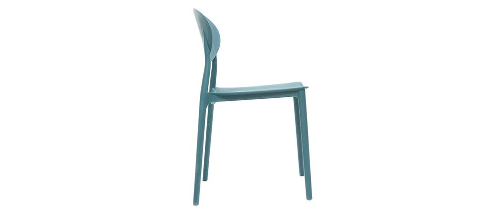 2 Design-Stühle blaugrün Polypropylen ANNA