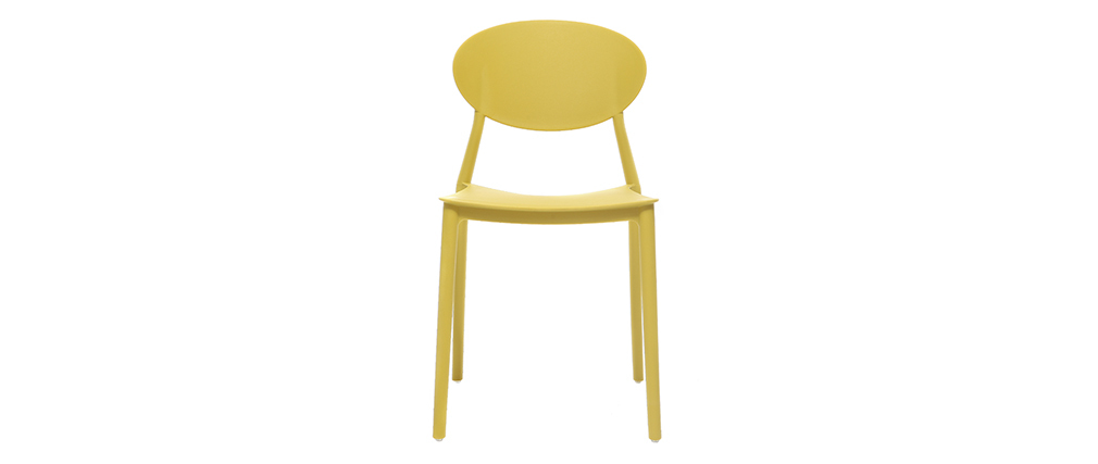 2 Design-Stühle Gelb Polypropylen ANNA