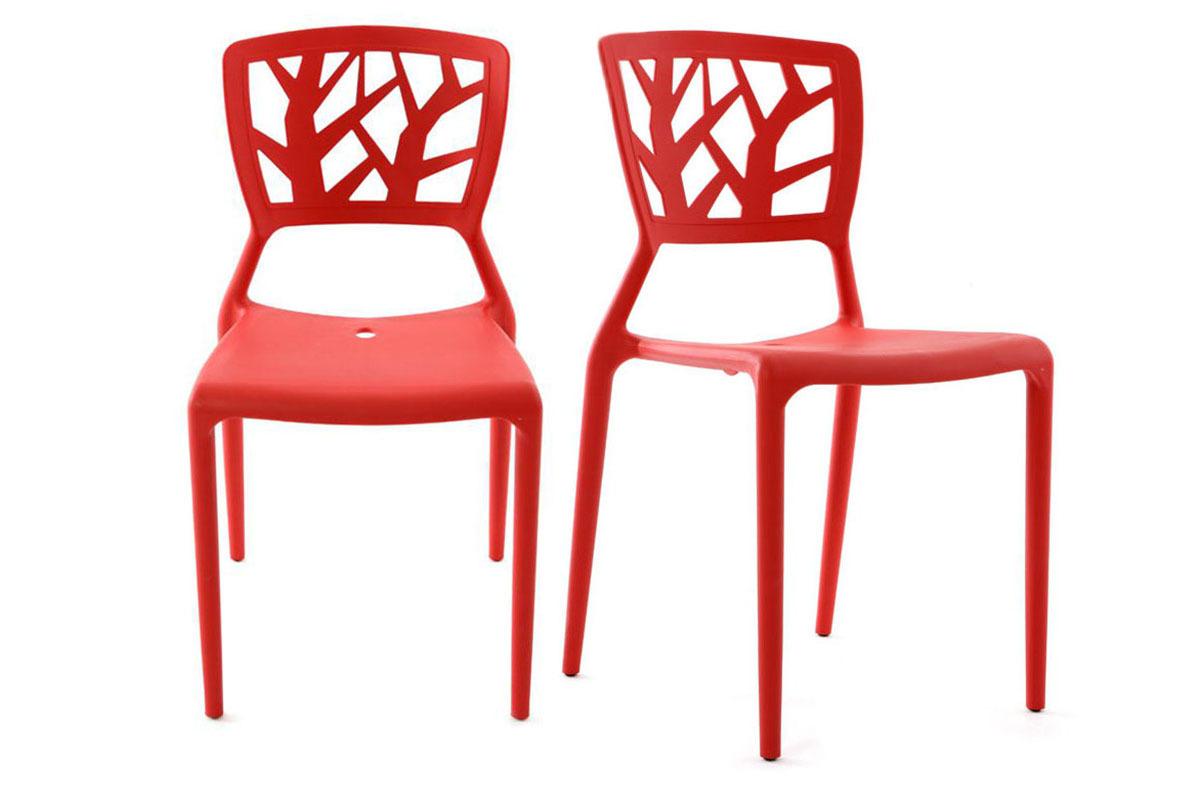 2 Design-Stühle KATIA Rot