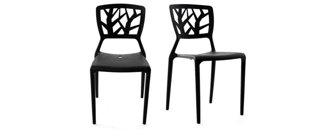 2 Design-Stühle KATIA Schwarz