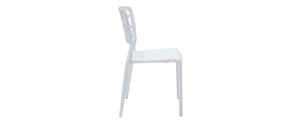 2 Design-Stühle KATIA Weiß