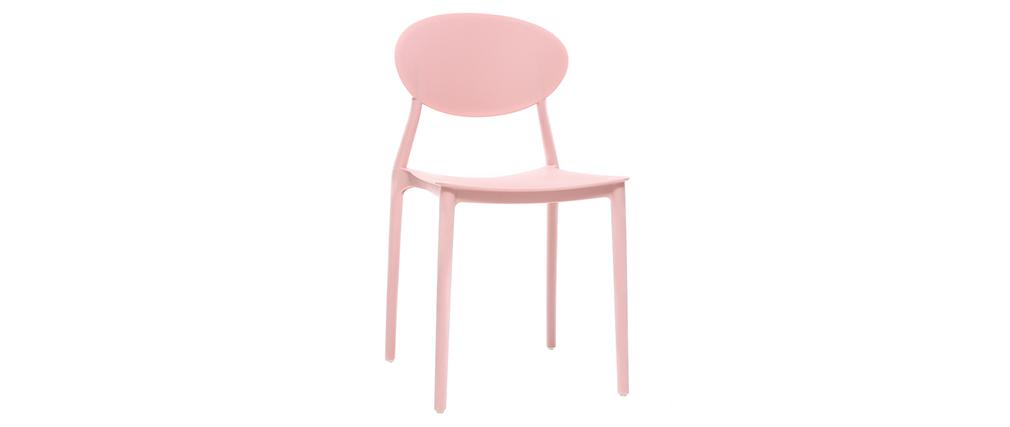 2 Design-Stühle Rosa Polypropylen ANNA