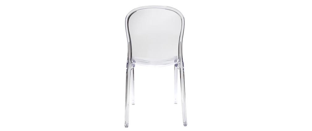 2 Design-Stühle THALYSSE Polycarbonat Transparent