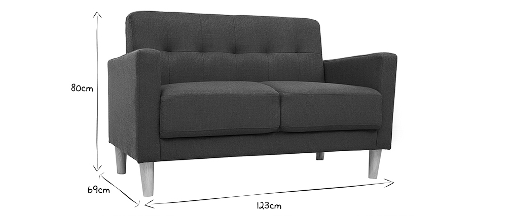 2-er Designer-Sofa MOON entenblau
