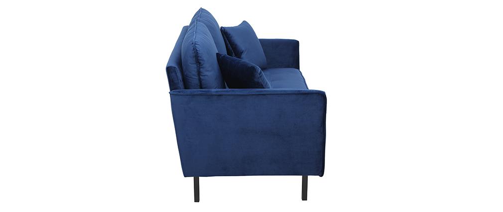 2-Sitzer-Sofa aus blauem Samt BEKA