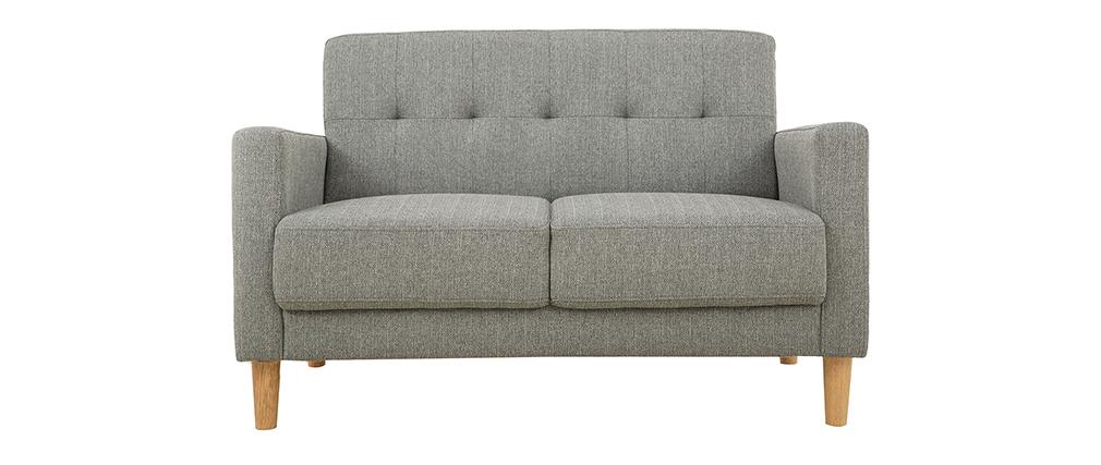 2-Sitzer Sofa aus grauem Stoff MOON