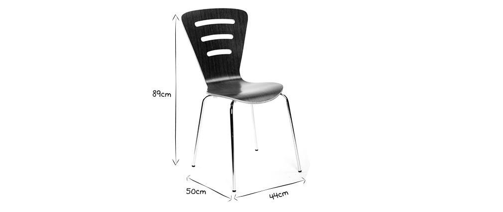 2 stapelbare Design-Stühle LENA Holz Natur