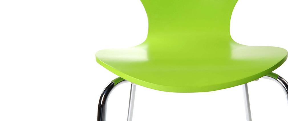 2 stapelbare Stühle NEW ABIGAIL Apfelgrün