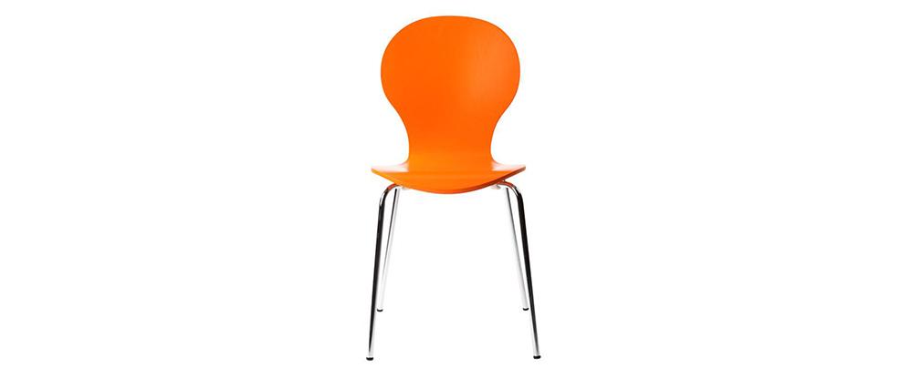 2 stapelbare Stühle NEW ABIGAIL Orange