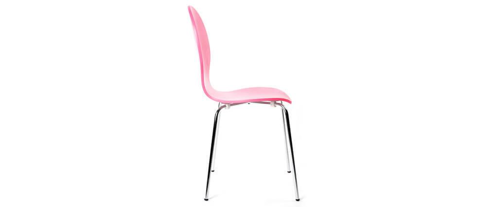 2 stapelbare Stühle NEW ABIGAIL Rosa