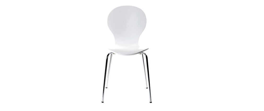 2 stapelbare Stühle NEW ABIGAIL Weiß