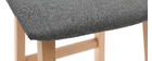 2er-Set Barhocker helles Holz und grauer Stoff 72 cm OSAKA