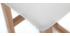 2er-Set Barhocker helles Holz und PU Weiß OSAKA