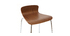 2er-Set Barhocker ONDA aus Metall und Nussbaumholz Höhe 75 cm