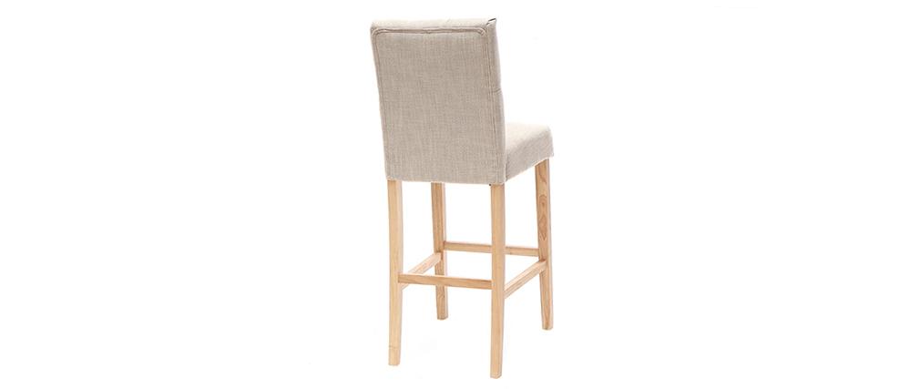 2er-Set Barhocker/-stühle, naturfarbener Stoff, Höhe 75 cm RIVOLI