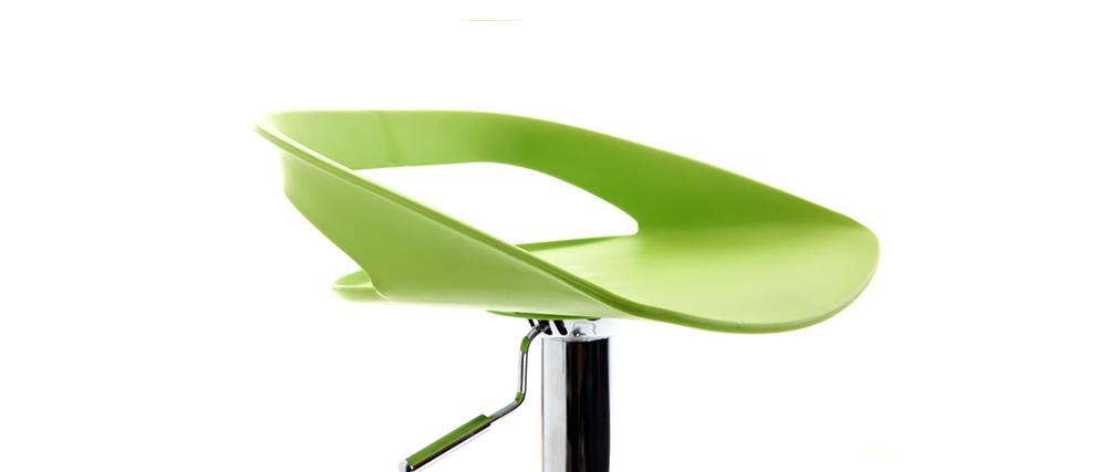 2er-Set Design-Barhocker Grün PHENIX