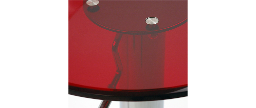2er-Set Design-Barhocker Plexiglas Rot transparent ORION