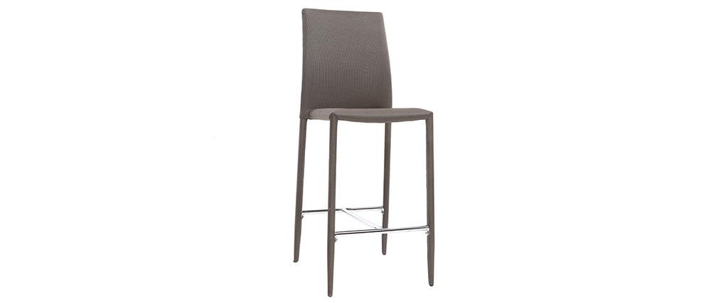 2er-Set Design-Barhocker/Stühle Taupe TALOS