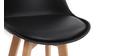 2er-Set Design-Barhocker Weiß und Holz 65 cm PAULINE