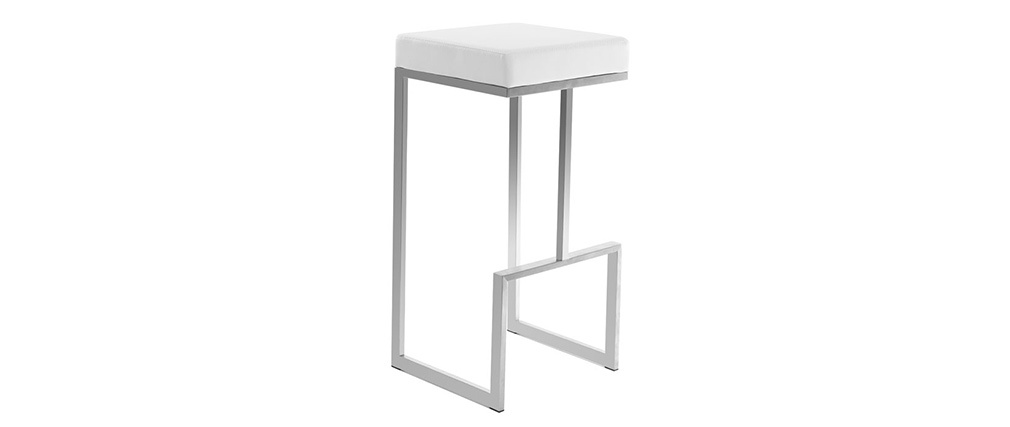 2er-Set Design-Hocker Weiß Omicron