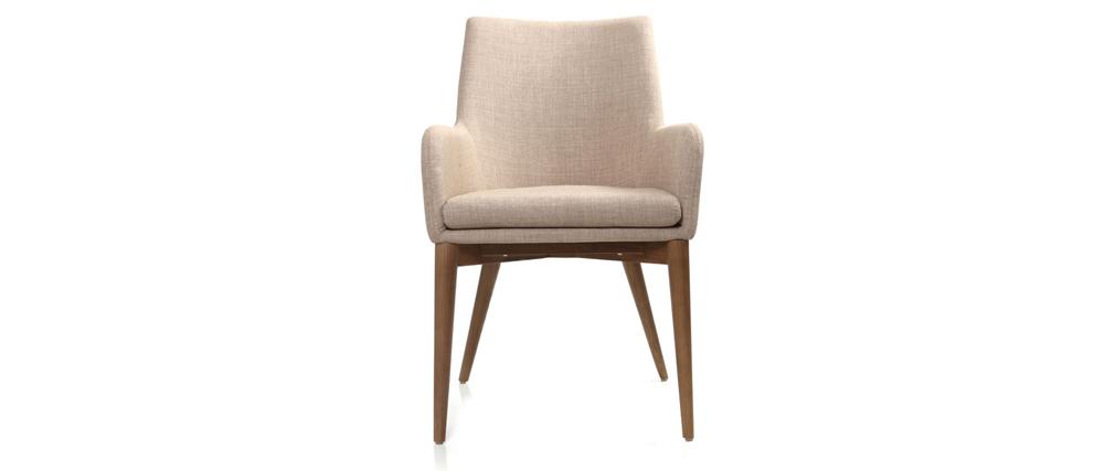 2er-Set Design-Sessel Polyester Beige SHANA