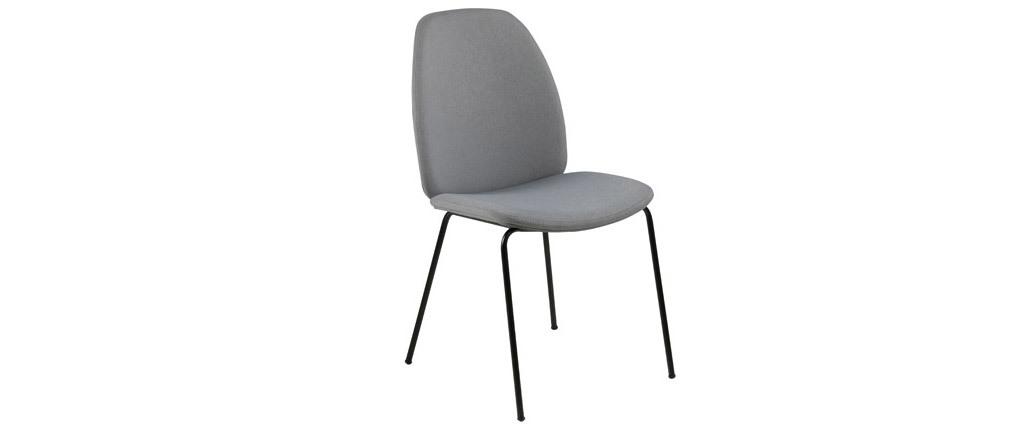 2er-Set Design-Stühle Hellgrau PALOMA