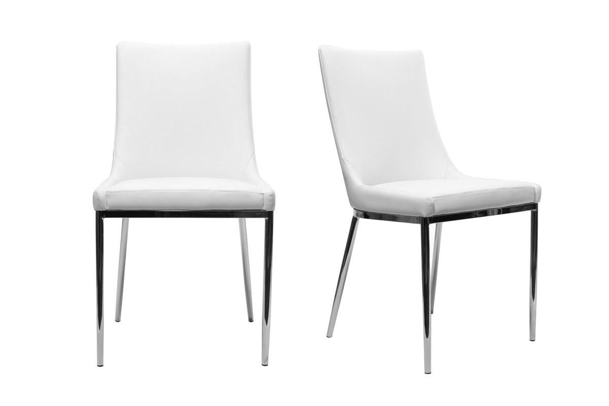 2er set design st hle polyurethan wei und chromstahl ira miliboo. Black Bedroom Furniture Sets. Home Design Ideas