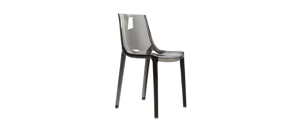 2er-Set Design-Stühle Rauchgrau YZEL