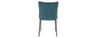 2er-Set Design-Stühle Samt Petrolblau SOLACE