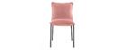 2er-Set Design-Stühle Samt Rosa SOLACE
