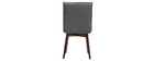 2er-Set Design-Stühle Stoff Anthrazitgrau mit dunklen Holzbeinen IZAL