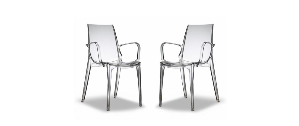 2er-Set Design-Stühle transparent AERIAL