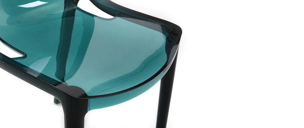 2er-Set Design-Stühle Wassergrün YZEL