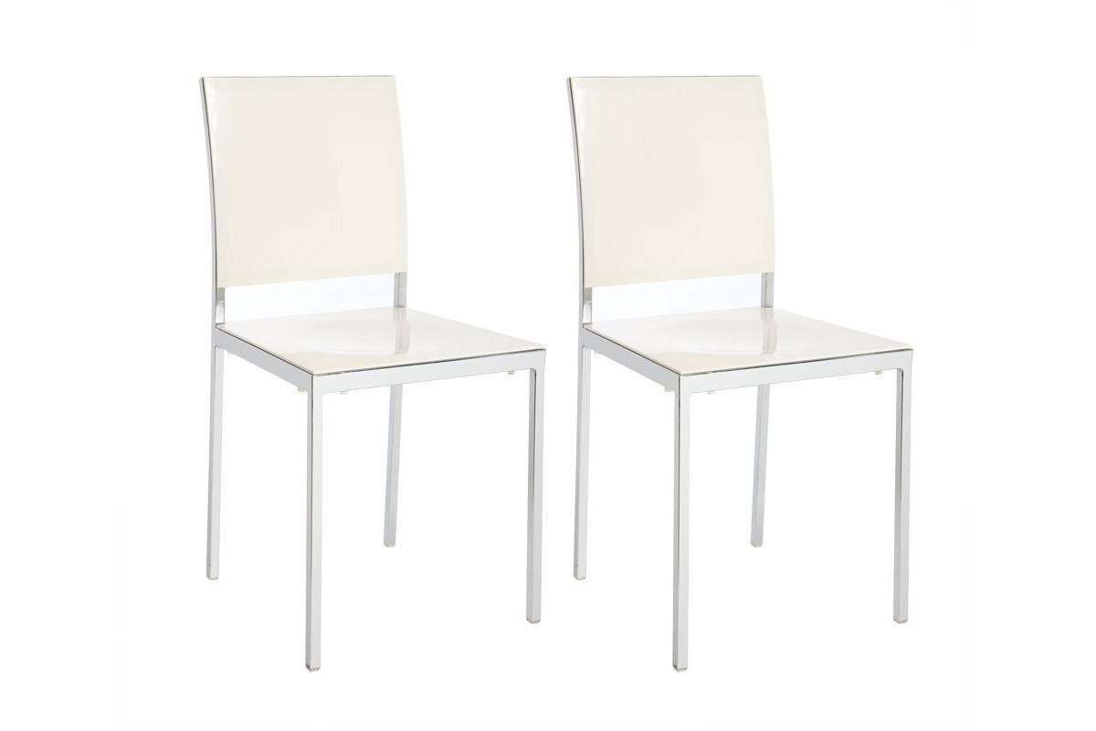 2er-Set Design-Stühle Weiß lackiert NIXIE