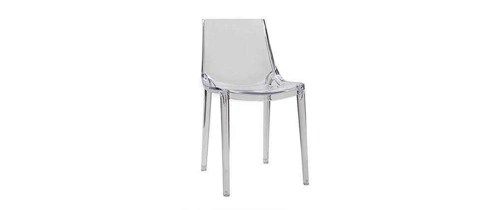 2er-Set Durchsichtige Design-Stühle YZEL