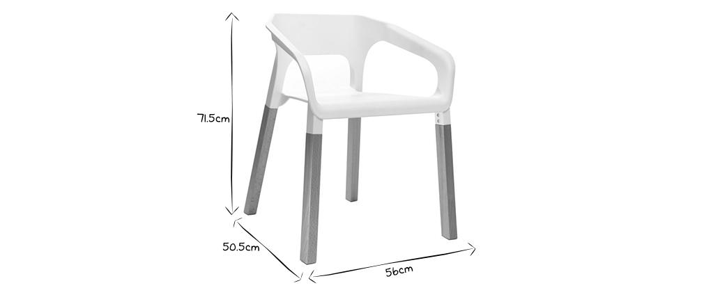 2er-Set skandinavische Design-Stühle Grau HELIA