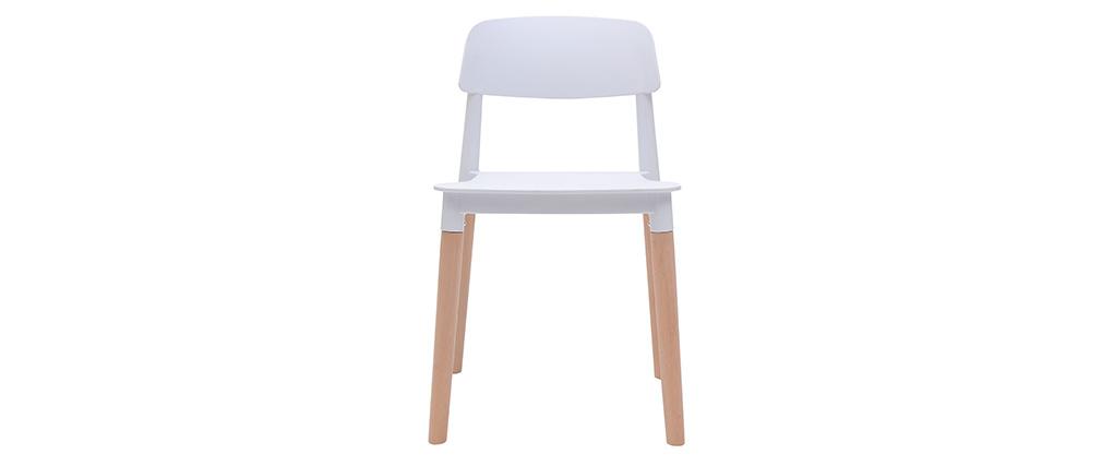 2er-Set skandinavische Design-Stühle Weiß GILDA