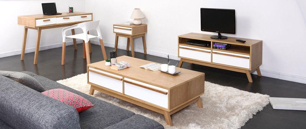2er-Set skandinavische Design-Stühle Weiß HELIA