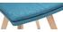 2er-Set Stühle skandinavisch blauer Stoff mit hellen Holzbeinen THEA