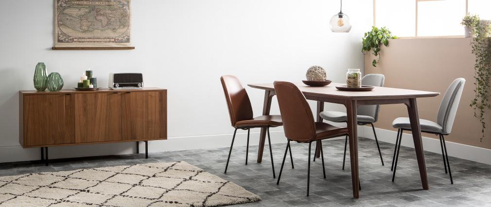 2er Set Stühle Vintage PU Braun PALOMA