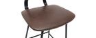 2er-Set Vintage-Barhocker Braun mit Beinen aus Metall 65 cm LAB
